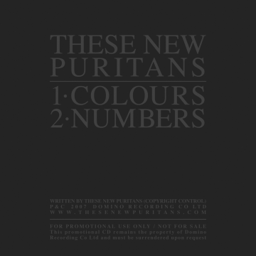 These New Puritans - Colours/Numbers