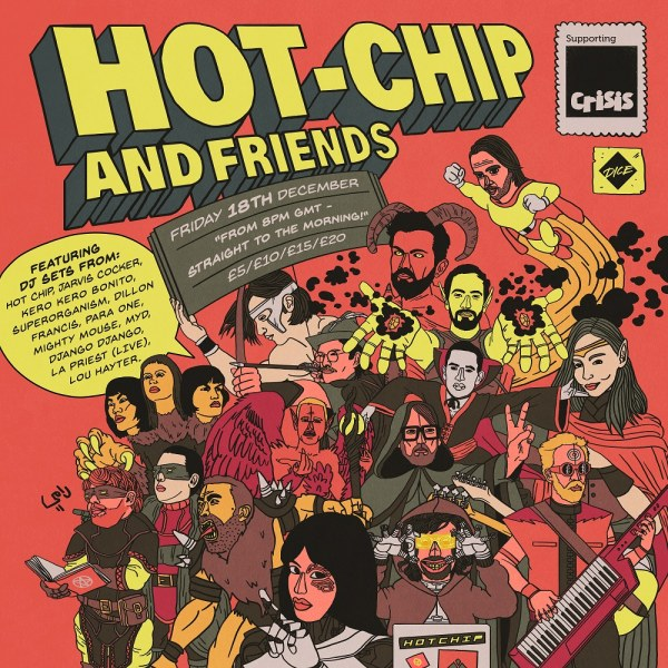 Hot Chip announce Hot Chip and Friends charity stream for Friday 18th December