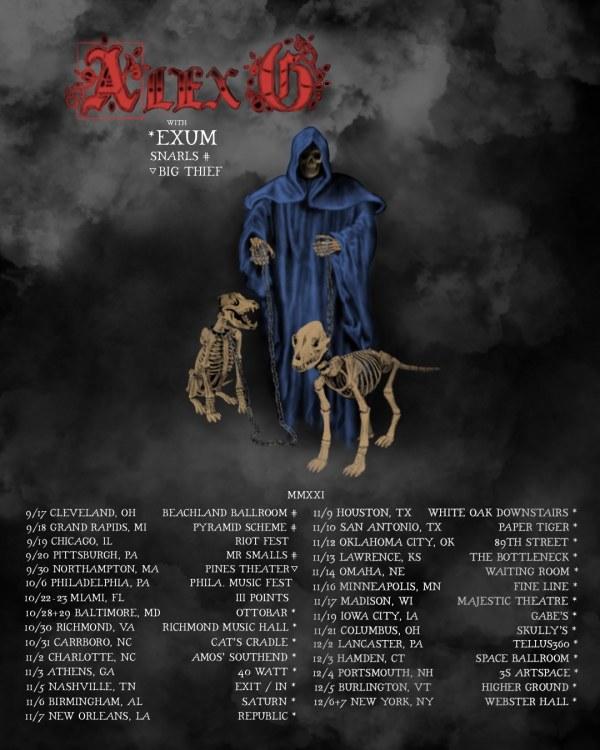 Alex G announces Fall/Winter 2021 US tour