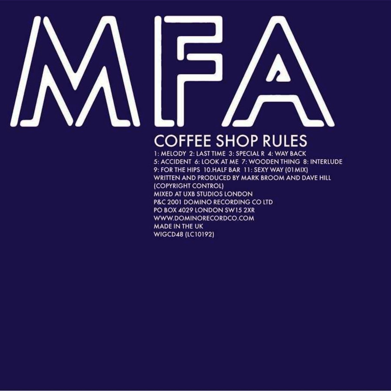 MFA - Coffee Shop Rules