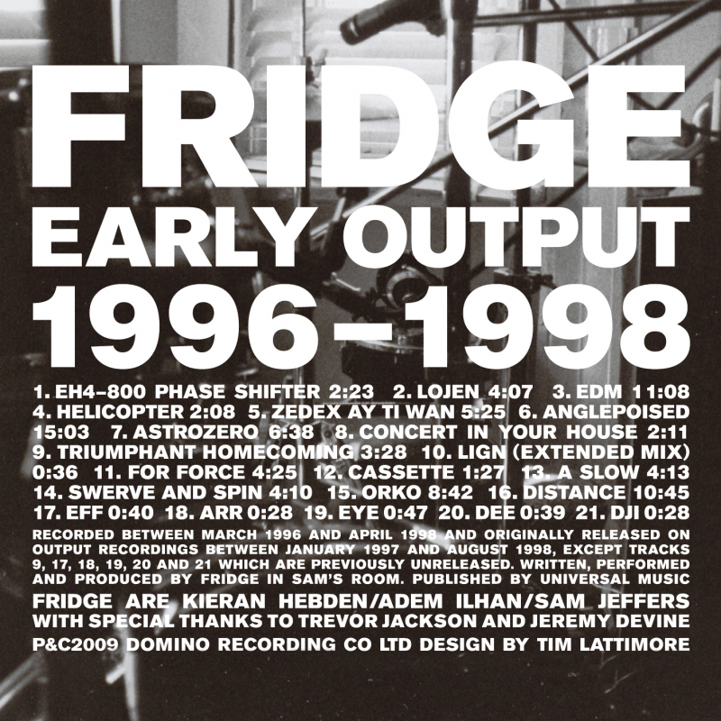 Fridge - Early Output 1996-1998
